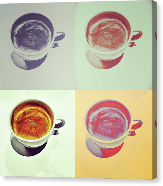 Pop Art Coffee Cups - Canvas Print from Wallasso - The Wall Art Superstore