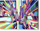 Pop Art New York City Taxi Cabs - Acrylic Print from Wallasso - The Wall Art Superstore