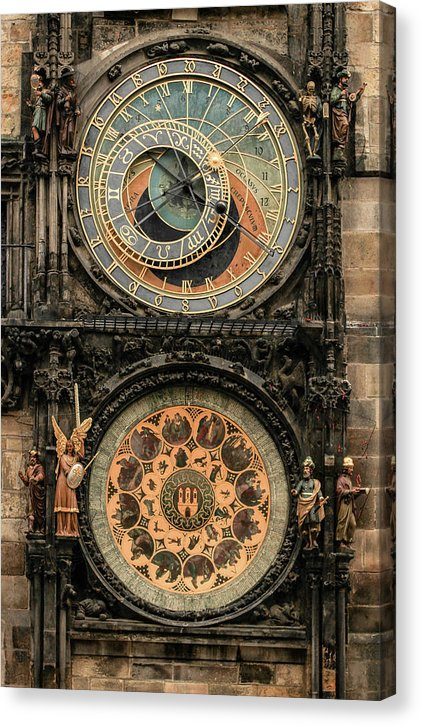 Prague Town Hall Clock - Canvas Print from Wallasso - The Wall Art Superstore
