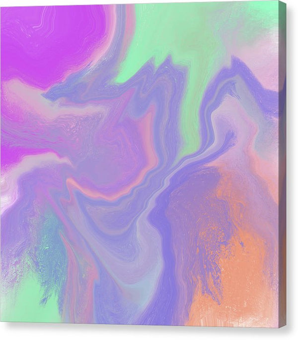 Purple Abstract Acrylic Pour by Jessica Contreras - Canvas Print from Wallasso - The Wall Art Superstore