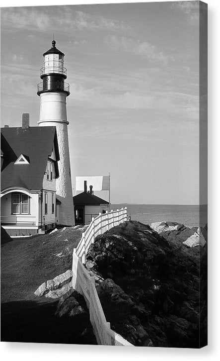 Quaint Coastal Lighthouse - Canvas Print from Wallasso - The Wall Art Superstore