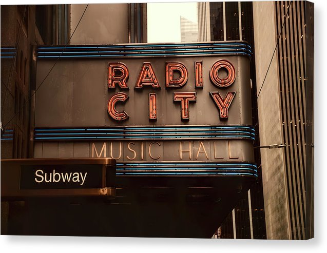 Radio City Music Hall, New York City - Canvas Print from Wallasso - The Wall Art Superstore