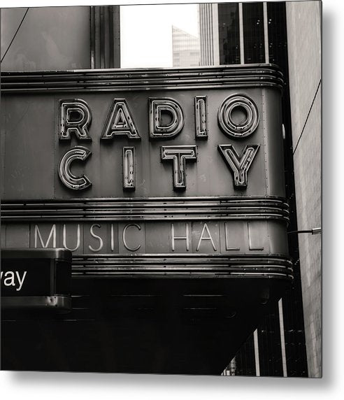 Radio City Music Hall, Manhattan - Metal Print from Wallasso - The Wall Art Superstore