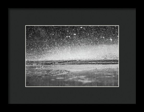 Rain Drops Falling On City Street - Framed Print from Wallasso - The Wall Art Superstore