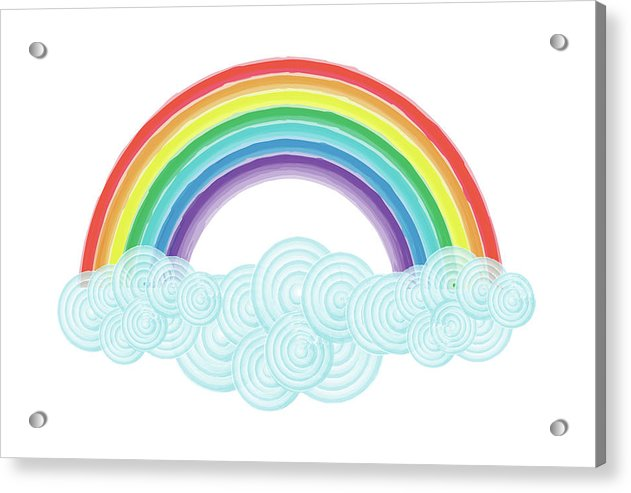 Rainbow Painting For Kids - Acrylic Print from Wallasso - The Wall Art Superstore