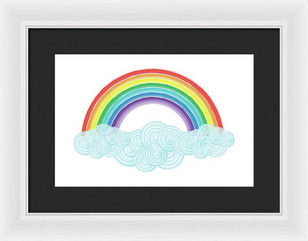 Rainbow Painting For Kids - Framed Print from Wallasso - The Wall Art Superstore
