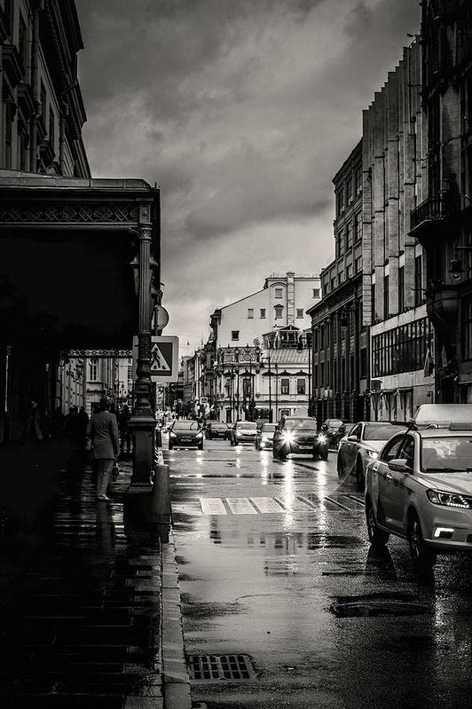 Rainy City Street - Art Print from Wallasso - The Wall Art Superstore