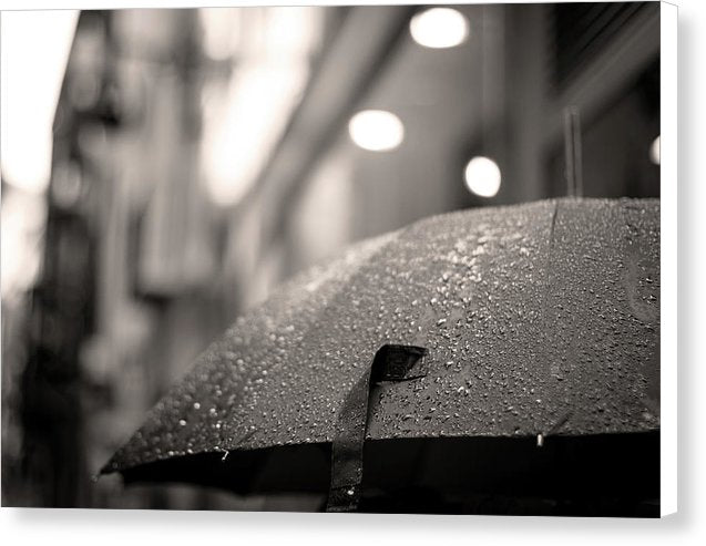 Rainy Umbrella - Canvas Print from Wallasso - The Wall Art Superstore