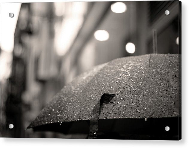 Rainy Umbrella - Acrylic Print from Wallasso - The Wall Art Superstore