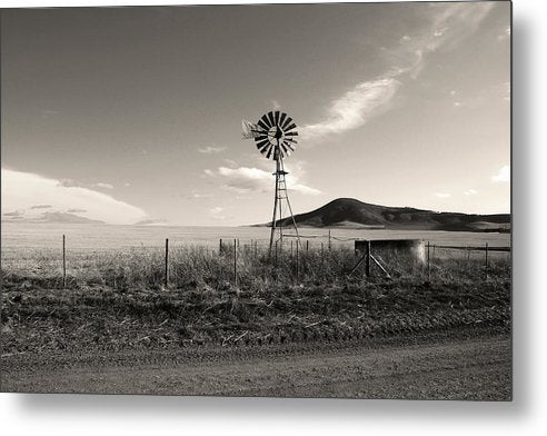 Ranch Windmill - Metal Print from Wallasso - The Wall Art Superstore