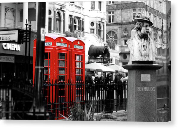 Red London Phone Booths - Canvas Print from Wallasso - The Wall Art Superstore