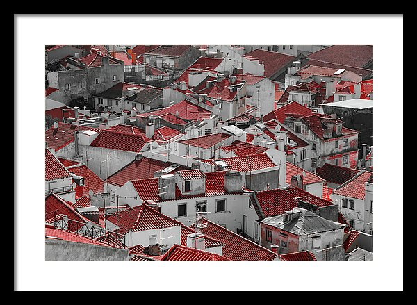 Red Rooftops In Alfama District of Lisbon - Framed Print from Wallasso - The Wall Art Superstore