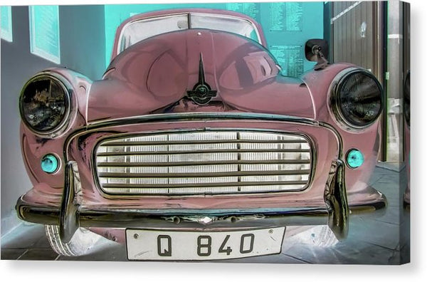 Reflective Pop Art Vintage Car - Canvas Print from Wallasso - The Wall Art Superstore