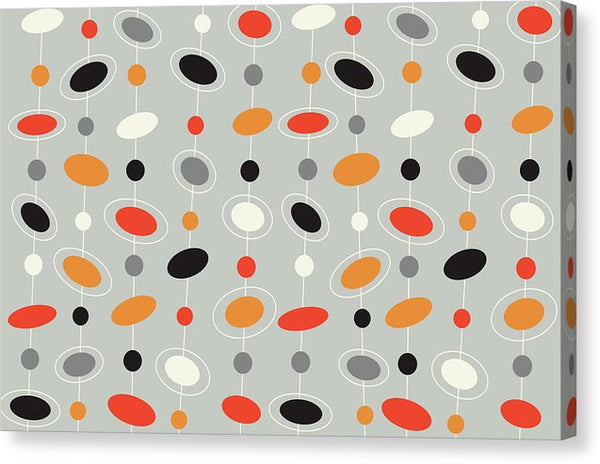 Retro Midcentury Modern 1960s Pattern - Canvas Print from Wallasso - The Wall Art Superstore