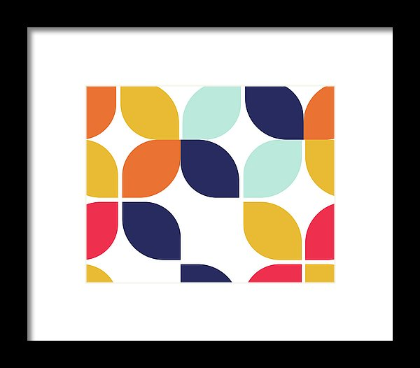 Retro Bauhaus Inspired Design - Framed Print from Wallasso - The Wall Art Superstore