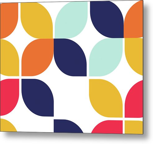 Retro Bauhaus Inspired Design - Metal Print from Wallasso - The Wall Art Superstore