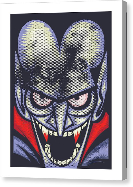 Retro Comic Book Vampire - Canvas Print from Wallasso - The Wall Art Superstore