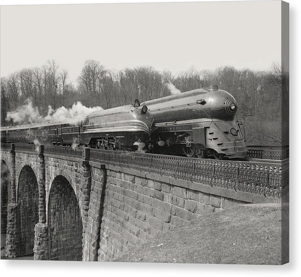 Retro Futuristic Bullet Train - Canvas Print from Wallasso - The Wall Art Superstore