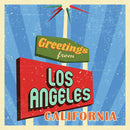 Retro Greetings From Los Angeles California Sign - Art Print from Wallasso - The Wall Art Superstore