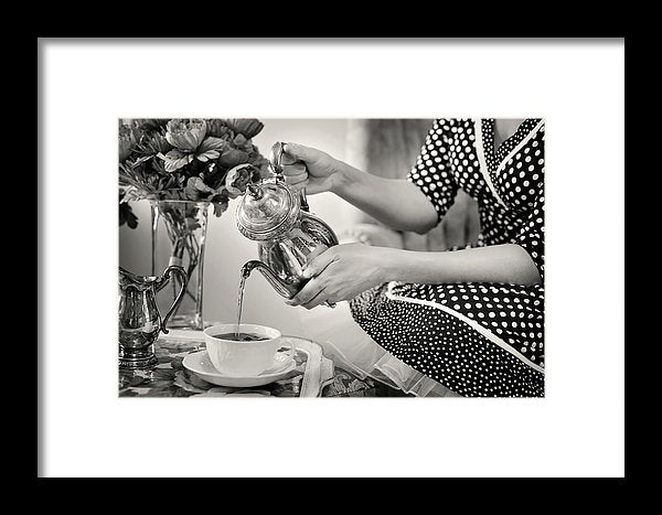 Retro Tea Pour - Framed Print from Wallasso - The Wall Art Superstore