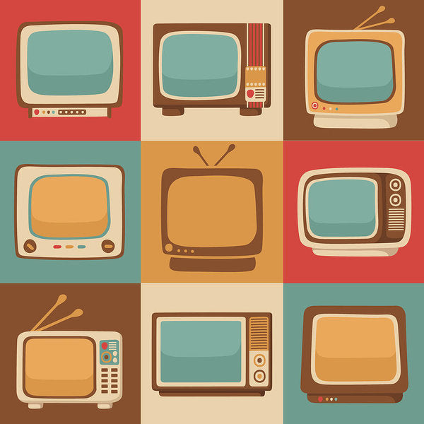 Retro Television Sets - Art Print from Wallasso - The Wall Art Superstore