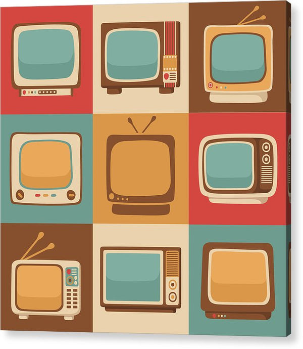 Retro Television Sets - Acrylic Print from Wallasso - The Wall Art Superstore