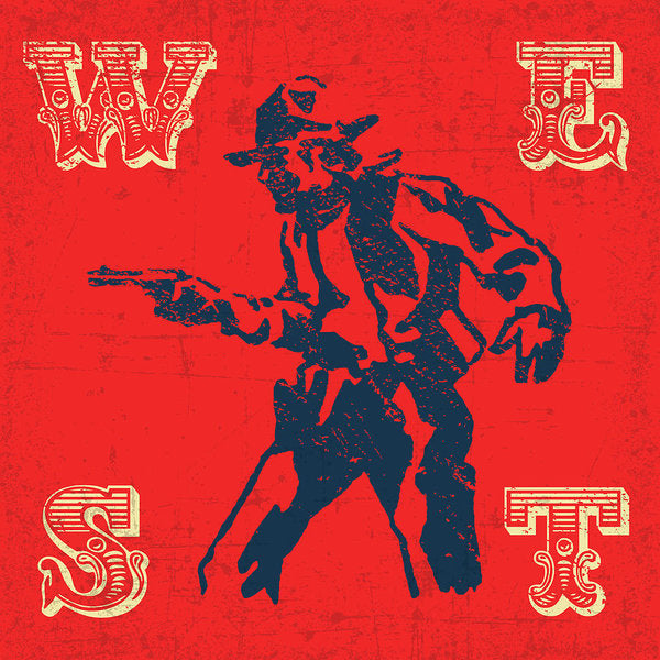 Retro Wild West Cowboy Design, 2 of 2 Set - Art Print from Wallasso - The Wall Art Superstore