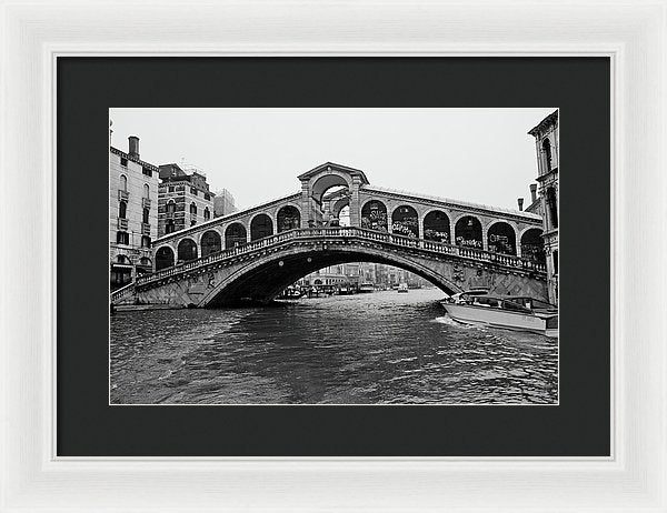 Rialto Bridge In Venice, Italy - Framed Print from Wallasso - The Wall Art Superstore