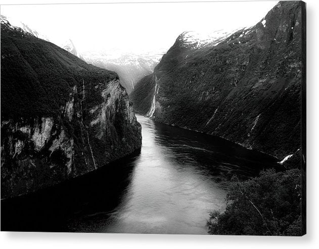River Running Through Valley - Acrylic Print from Wallasso - The Wall Art Superstore