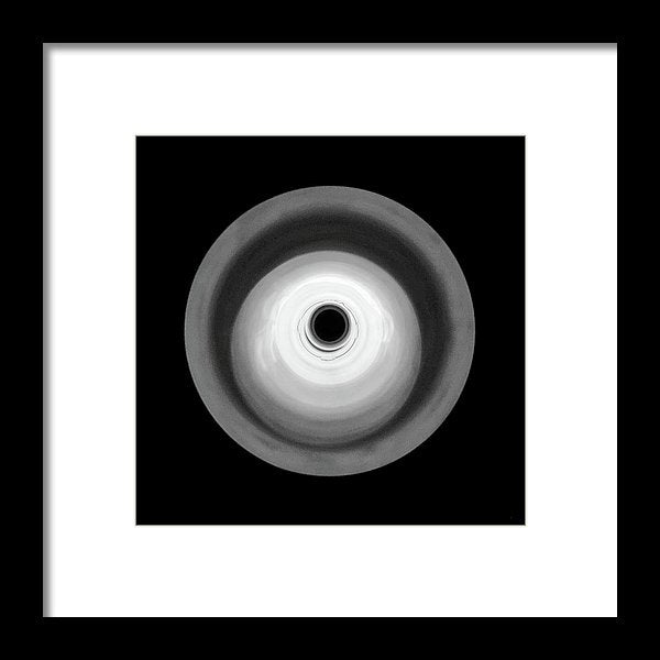 Round Abstract Black and White Design - Framed Print from Wallasso - The Wall Art Superstore