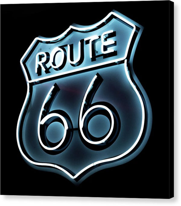 Route 66 Neon Sign - Canvas Print from Wallasso - The Wall Art Superstore