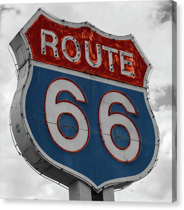 Route 66 Sign - Canvas Print from Wallasso - The Wall Art Superstore