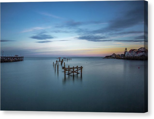Ruins of Old Pier In Still Waters - Canvas Print from Wallasso - The Wall Art Superstore