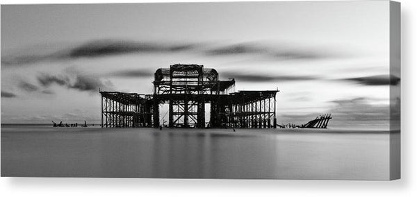 Ruins of The West Pier In Brighton, England - Canvas Print from Wallasso - The Wall Art Superstore