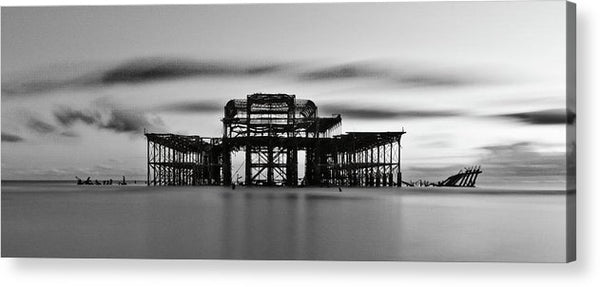 Ruins of The West Pier In Brighton, England - Acrylic Print from Wallasso - The Wall Art Superstore