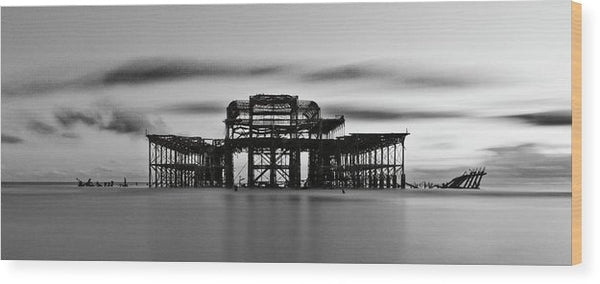 Ruins of The West Pier In Brighton, England - Wood Print from Wallasso - The Wall Art Superstore