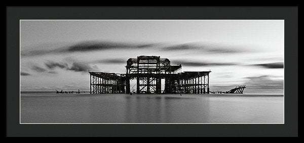 Ruins of The West Pier In Brighton, England - Framed Print from Wallasso - The Wall Art Superstore