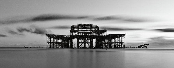 Ruins of The West Pier In Brighton, England - Art Print from Wallasso - The Wall Art Superstore
