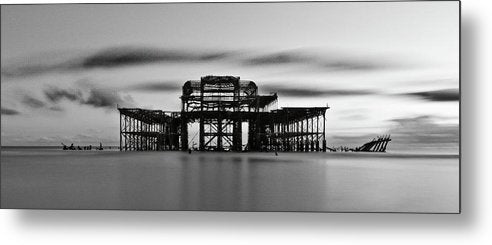 Ruins of The West Pier In Brighton, England - Metal Print from Wallasso - The Wall Art Superstore