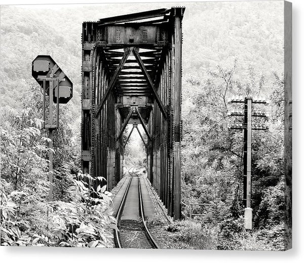 Rural Railroad Bridge - Canvas Print from Wallasso - The Wall Art Superstore