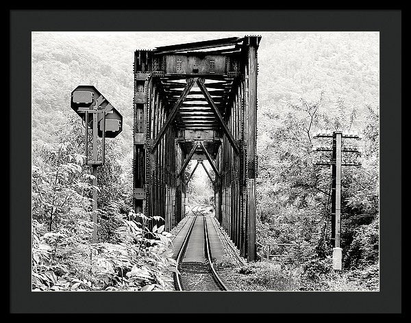 Rural Railroad Bridge - Framed Print from Wallasso - The Wall Art Superstore