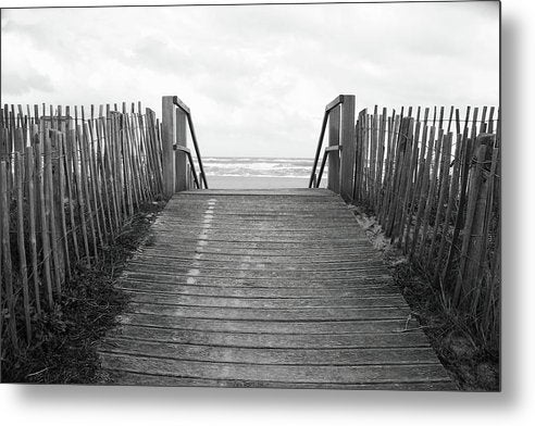 Rustic Boardwalk Leading To Beach - Metal Print from Wallasso - The Wall Art Superstore