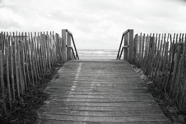 Rustic Boardwalk Leading To Beach - Art Print from Wallasso - The Wall Art Superstore