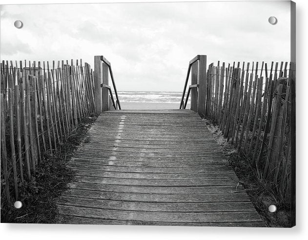 Rustic Boardwalk Leading To Beach - Acrylic Print from Wallasso - The Wall Art Superstore