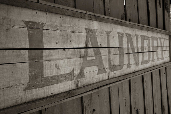 Rustic Wooden Laundry Sign - Art Print from Wallasso - The Wall Art Superstore