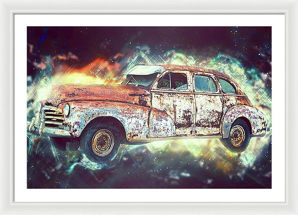 Rusty Vintage Car Design - Framed Print from Wallasso - The Wall Art Superstore