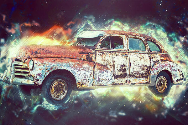 Rusty Vintage Car Design - Art Print from Wallasso - The Wall Art Superstore