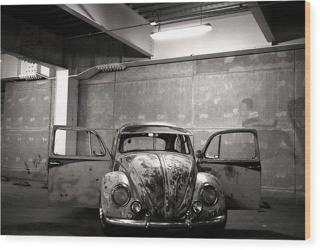Rusty Volkswagen Beetle - Wood Print from Wallasso - The Wall Art Superstore