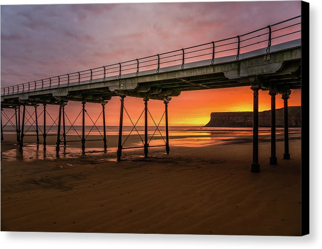 Saltburn Pier At Sunset - Canvas Print from Wallasso - The Wall Art Superstore