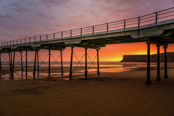 Saltburn Pier At Sunset - Art Print from Wallasso - The Wall Art Superstore